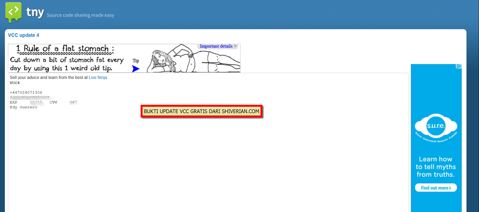 Bagi - Bagi VCC gratis update 5