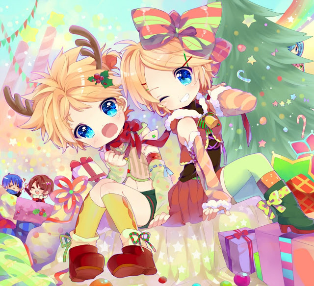 Christmas Vocaloid,anime Christmas, Chibi Christmas