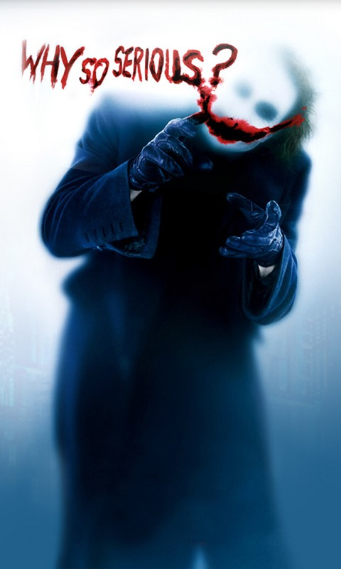 Why So Serious Mobile Phone Wallpaper 480 800 Hd Wallpapers
