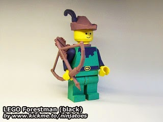 LEGO Papercraft Forestman (black)