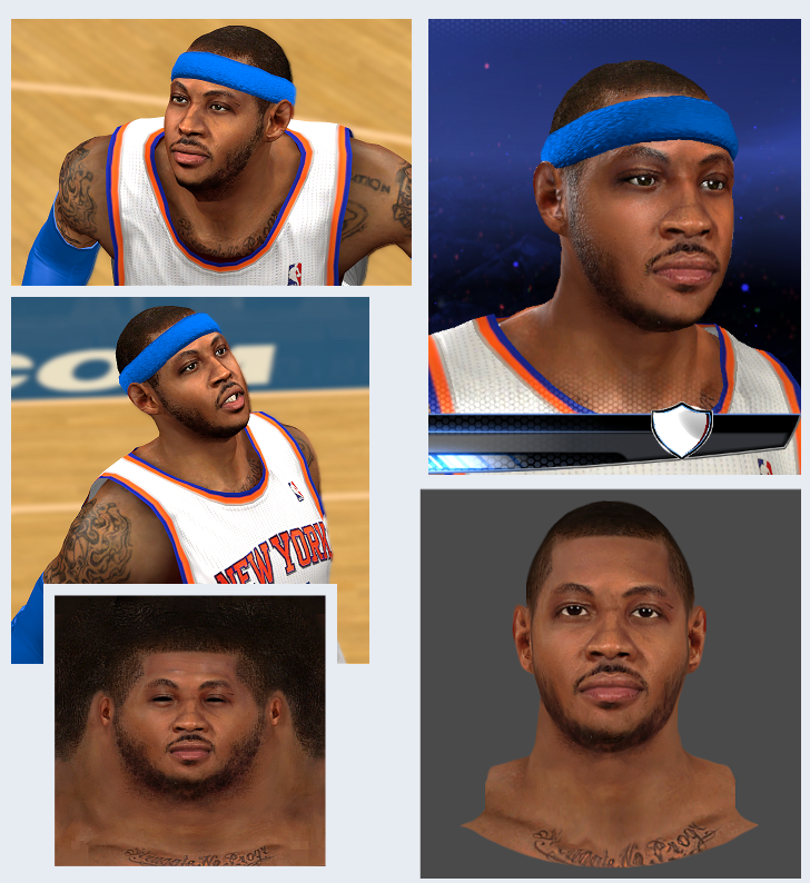 Real NBA2K Melo Face Patch