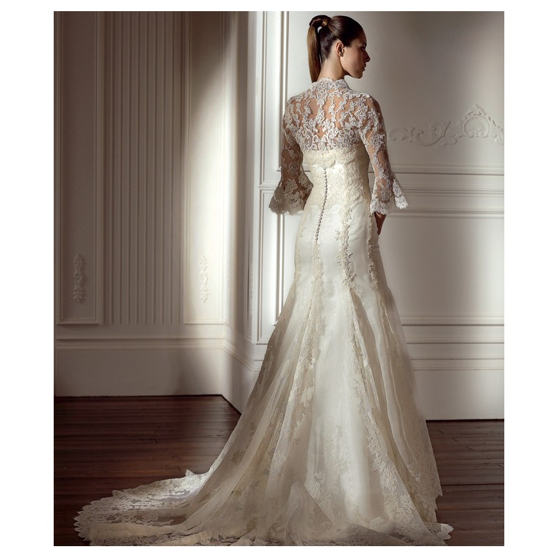 White lace wedding dress design with sleeves wedding for Wedding dresses that are white