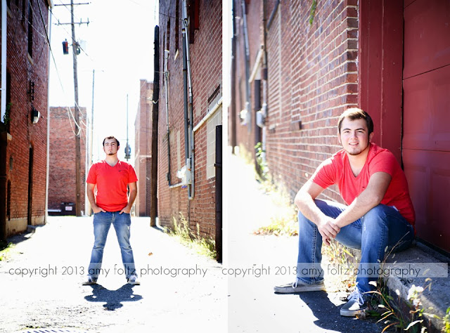 senior photos in alley - Terre Haute photographer