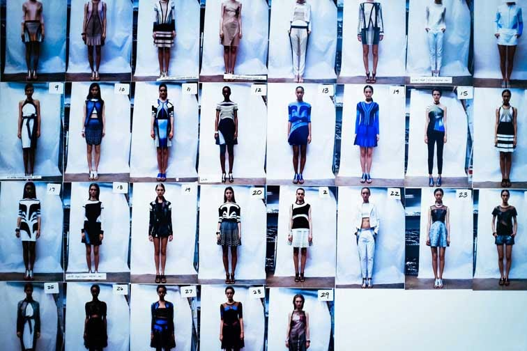 Ohne Titel ss14 backstage model lineup board
