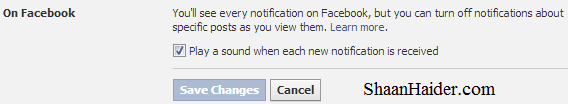 HOW TO : Turn Off Facebook Notification Sounds