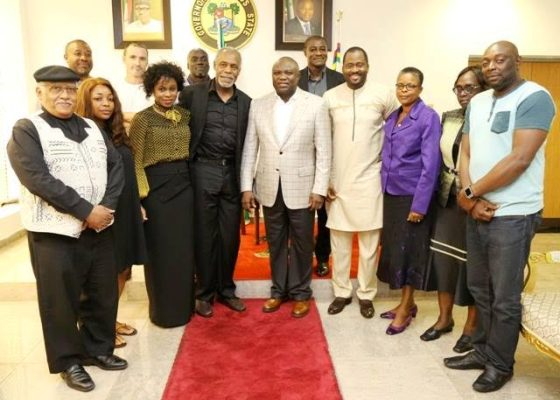 Gov Ambode hosts Hollywood legend Danny Glover and film cast of 93 Movie.