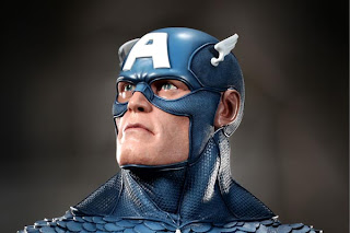 Captain America Life-Size Bust