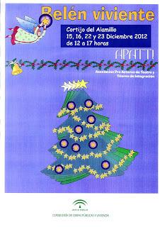 Cartel del Belén Viviente en Sevilla - Parque del Alamillo 2012