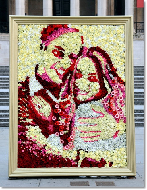 joe massie, asda joe massie, portrait fresh flowers, portrait flowers, duke and duchess of cambridge flowers, duke and duchess of cambridge flowers national portrait gallery, national portrait gallery duke and duchess of cambridge,  national portrait gallery kate & wills asda joe massie