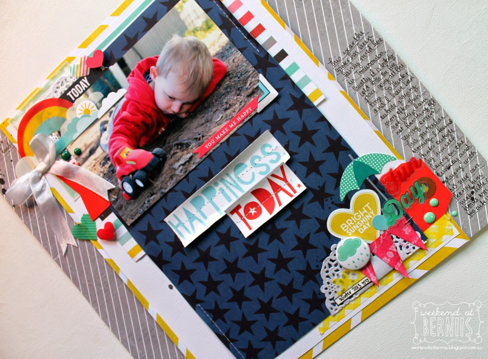 Happiness Today layout by Bernii Miller