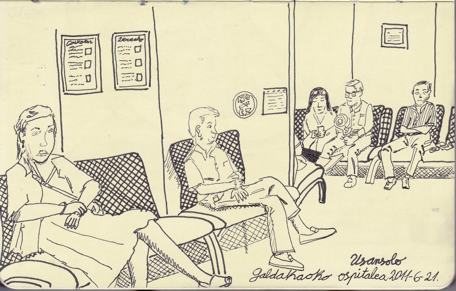 Marrazkiak eta horrelakoak Dibujos y cosas de esas Ospitalean