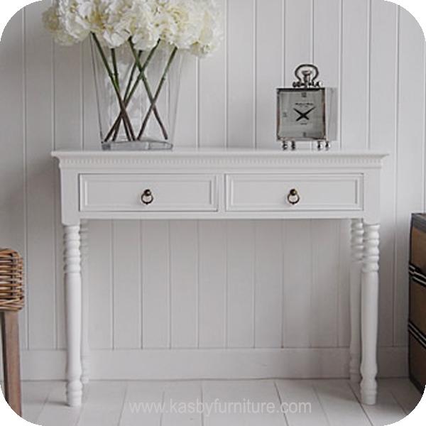 Meja Foyer Minimalis : Meja console putih laci