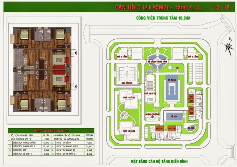 Bán chung cư Green House Việt Hưng diện tích 71,95m2