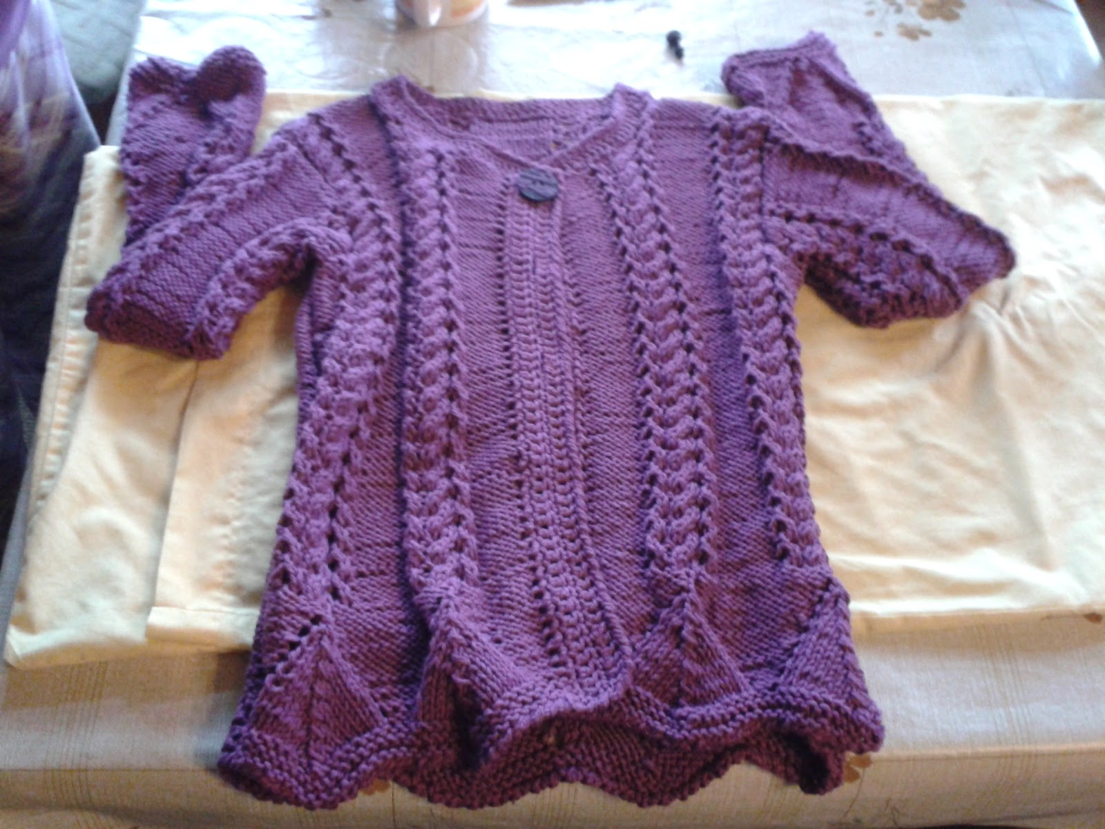 Chaleco tejido a palillo | Creaciones Isabel