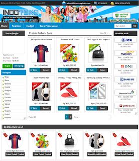 Template toko online blogger Premium