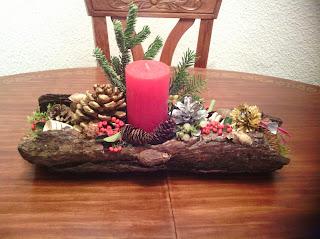 De todo un poco centros de mesa navide os con corteza de pino - Centros navidenos originales ...