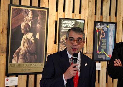 Inauguración de la exposición de carteles, a cargo de Fernando Lalanda.