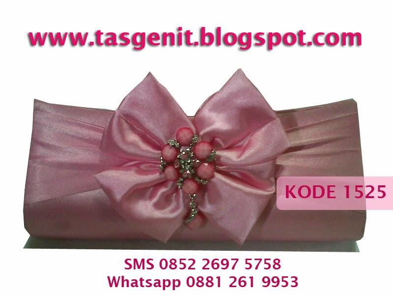 tas pesta cantik, clutch bag, dompet pesta, kebaya pink