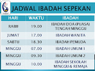 Jadwal Ibadah Sepekan