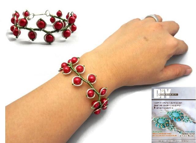 http://handmade-jewelry-club.com/2015/08/learn-make-cherry-bangle-wire-jewelry.html
