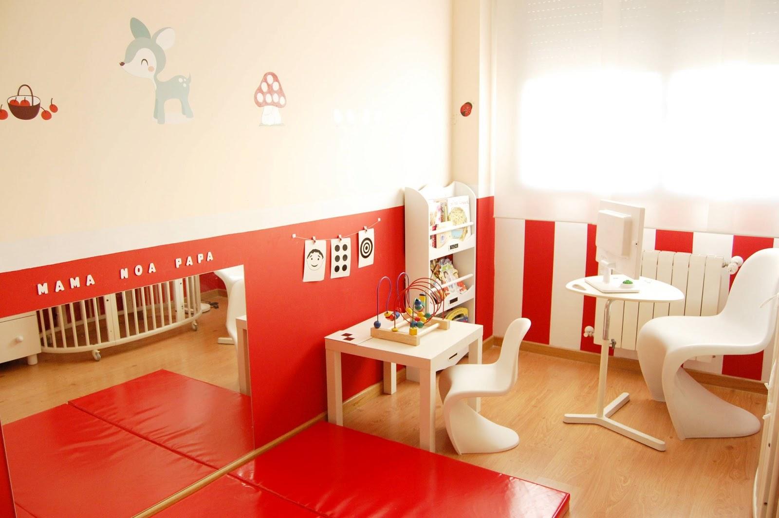 Mam de noa habitaci n de beb decorada en rojo - Habitaciones para ninos ikea ...
