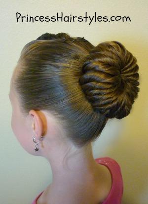 Phenomenal Pinwheel Bun Hairstyle Tutorial Hairstyles For Girls Princess Hairstyle Inspiration Daily Dogsangcom