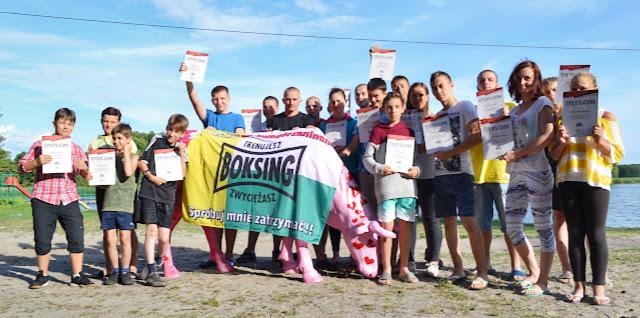 Kołatka, Zielona Góra, sport, trening, boks, kickboxing, muaythai, K-1, dzieci, młodzież, seniorzy, kajaki, biegi, gry, technika, obóz, pływanie, plaża, jezioro