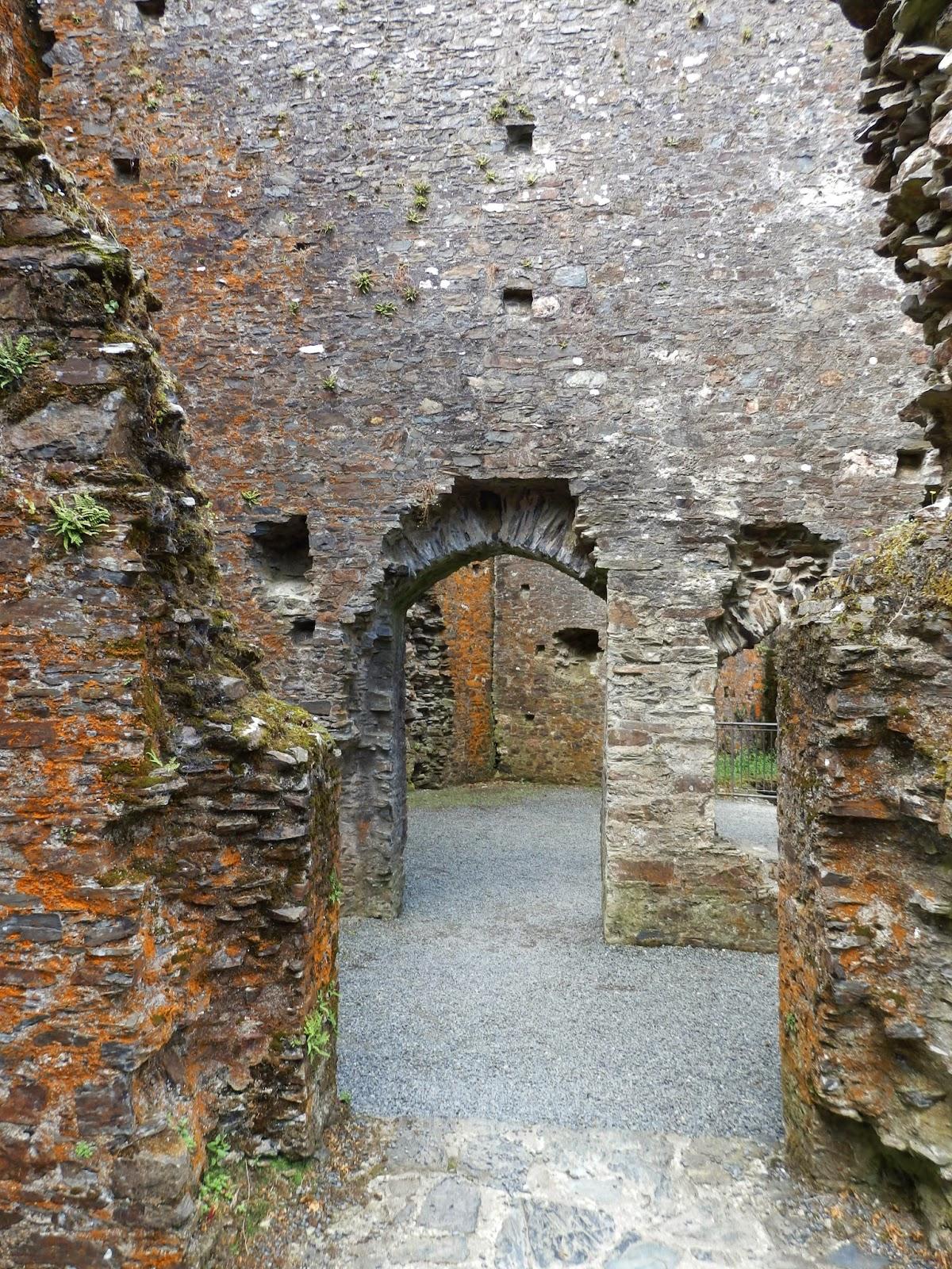 Inside Restormel Castle Cornwall