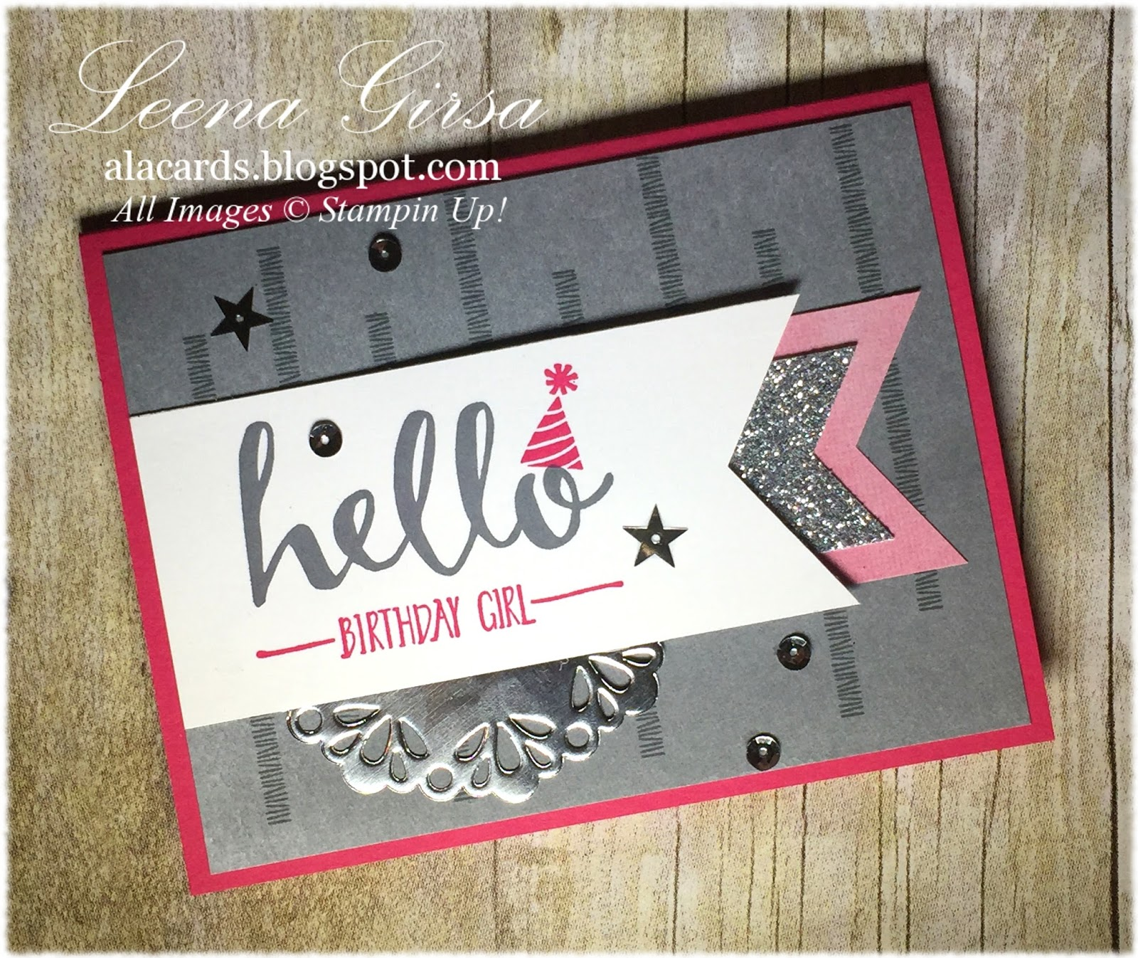 Birthday Card Featuring The Hello Sale A Bration Stamp Set And Perfectly  Artistic DSP