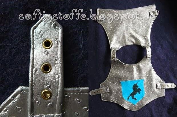 Ritter-Kostüm: Wams mit Schnallen und Riemchen