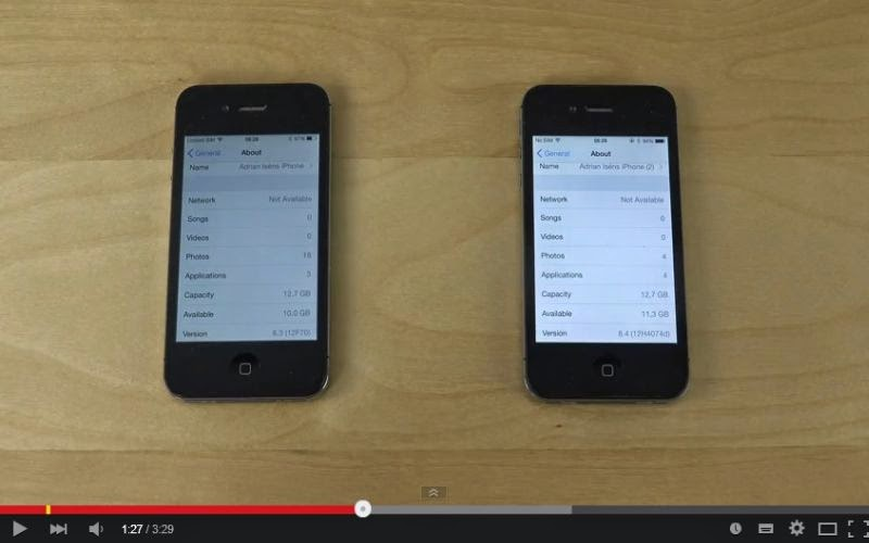 Uji Cepat Booting iPhone 4S iOS 8.3 vs iOS 8.4