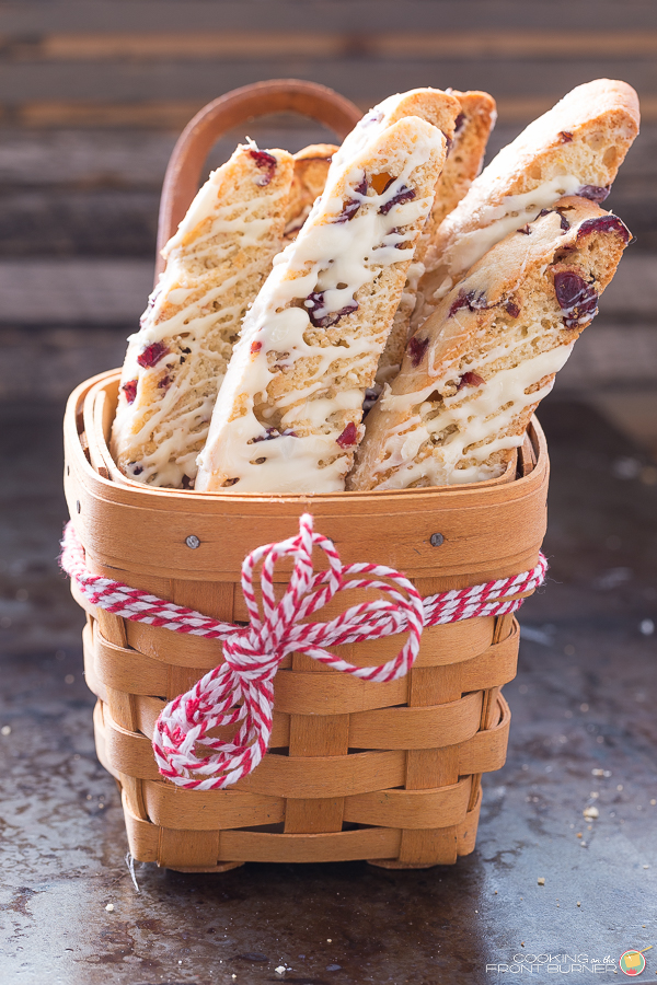 Orange Cranberry Biscotti with White Chocolate | Cooking on the Front Burner