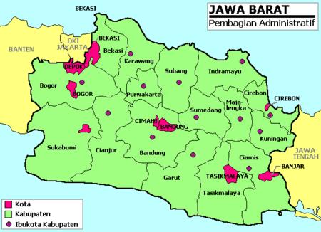 Jawa Barat Indonesia Map