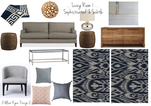 Living Room 1 // Crate U0026 Barrel Tulyn Rug