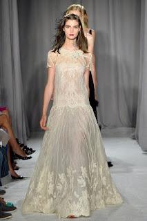 haute couture robe dentelle soie vanssa lekpa Georgina Chapman et Keren Craig