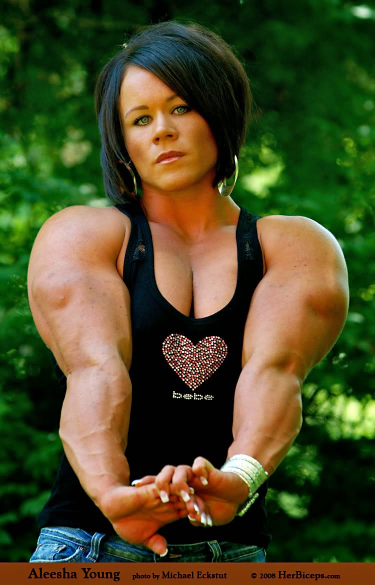 body building workout tips and advice: Aleesha Young is a