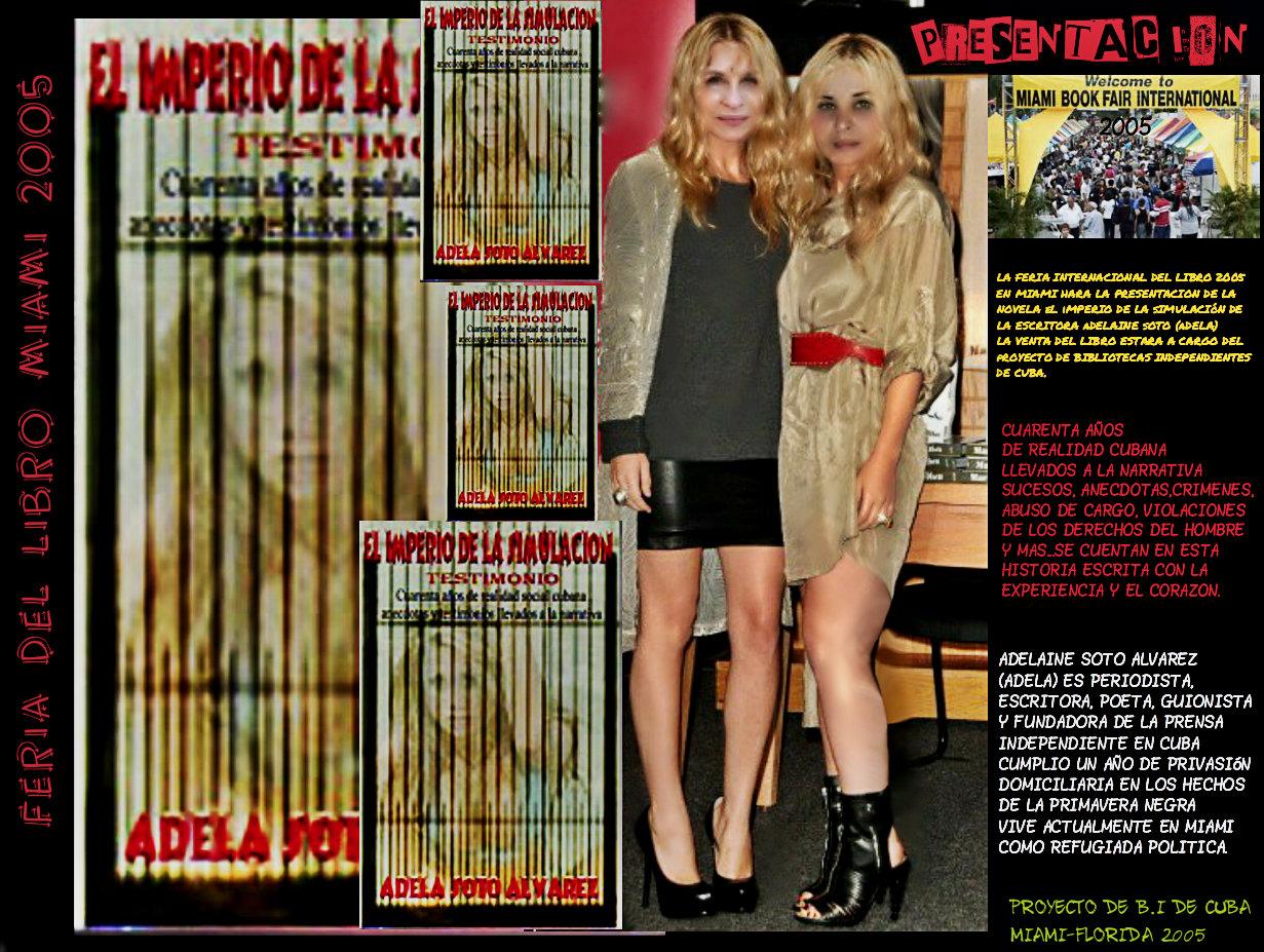 PRESENTACION NOVELA EL IMPERIO DE LA SIMULACION 2005