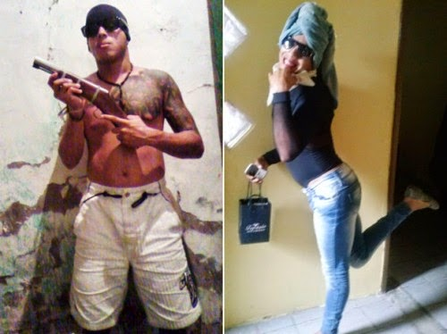 Traficante que se vestia de mulher para fugir da polícia é preso na Bahia.