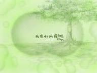 两滴水;两颗树