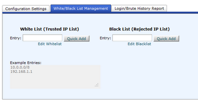 cPHulk White Black List Management
