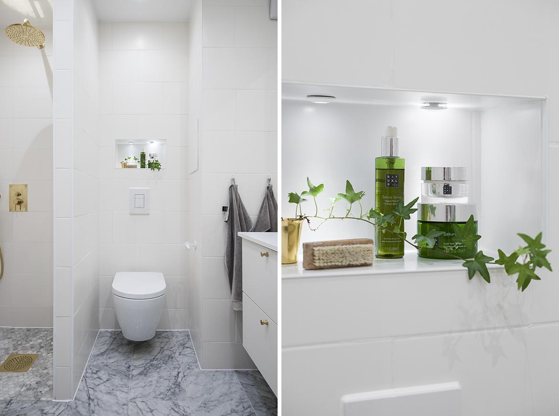 50 Nyanser av Vitt: Nisch i badrummet