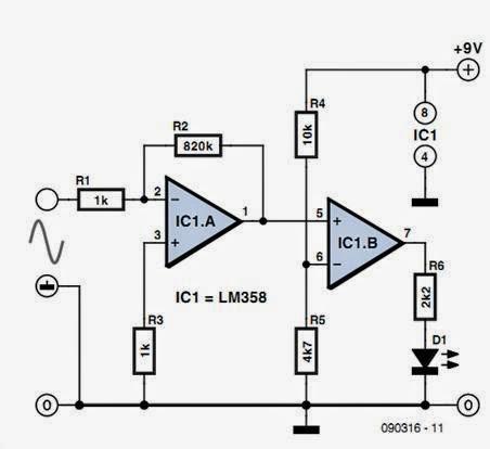 Tester for Inductive Sensors Circuit Diagram