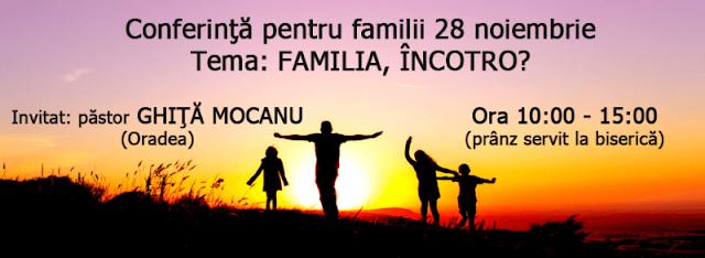 Conferință de familii la Biserica Emanuel Timișoara - 28 noiembrie 2015