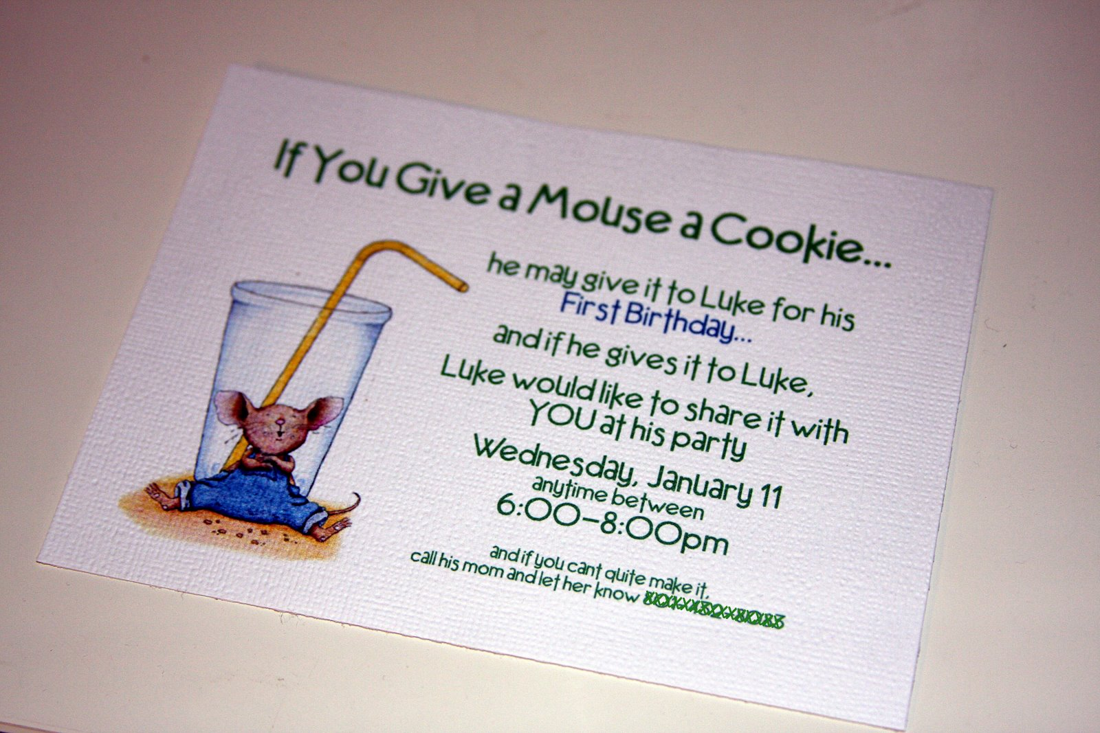 Life Frosting: If you give a Mouse a Cookie Party