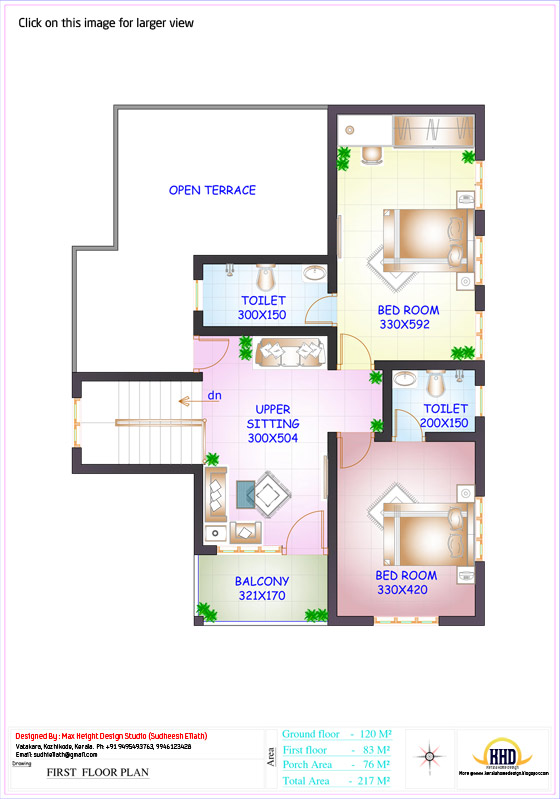 Floor plan and elevation of 2336 4 bedroom house for 150 square meters house floor plan