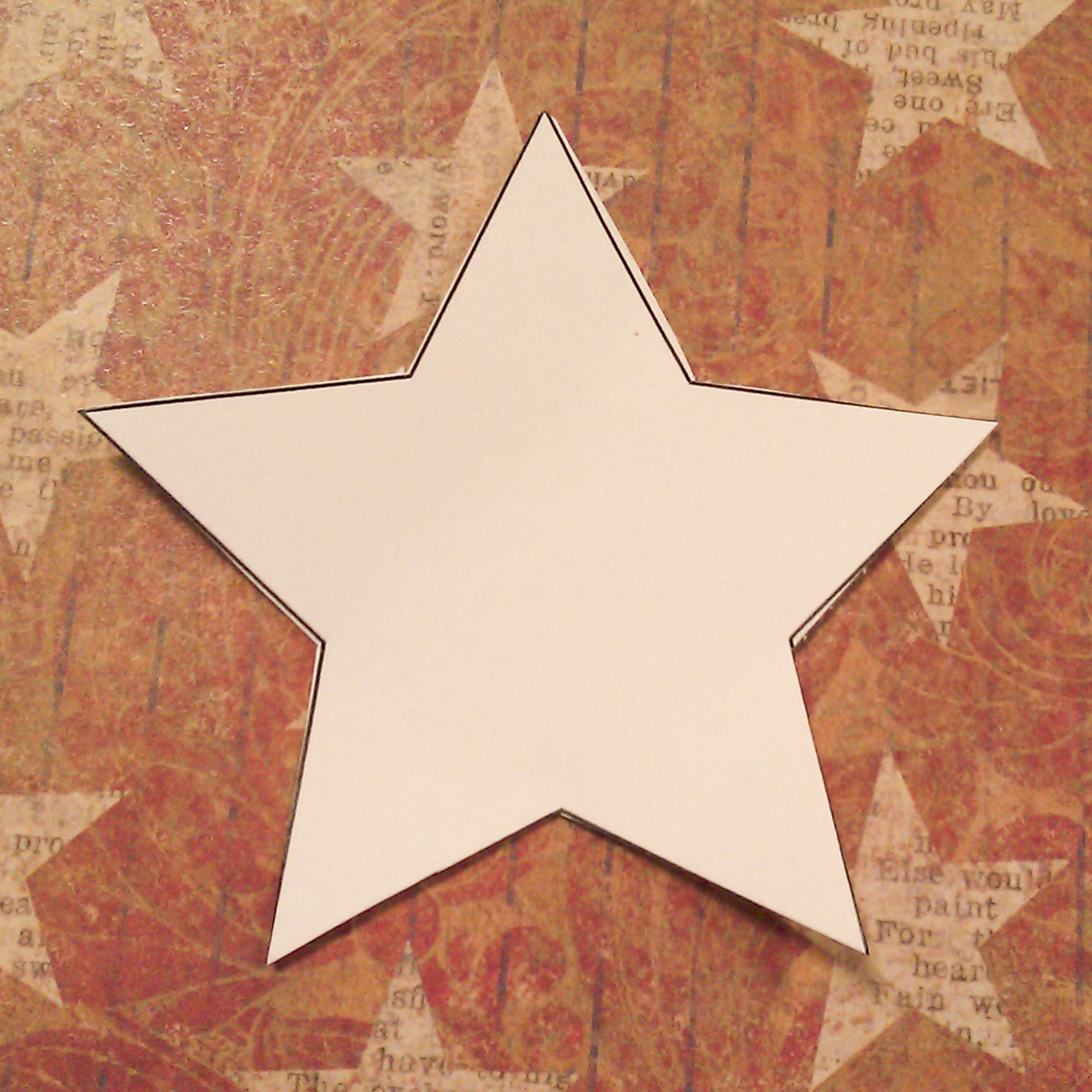 Crafty welder chick 4th of july paper star wreath for Paper star cut out template