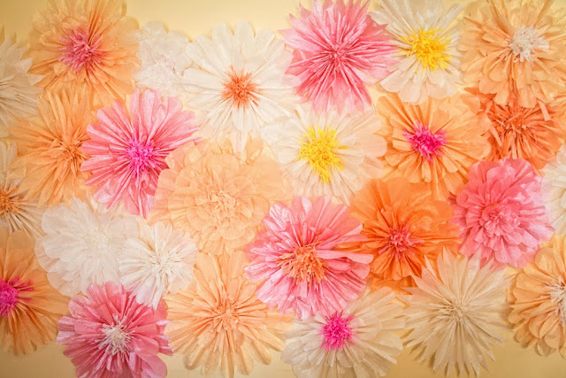 Be different act normal how to make beautiful crepe for Crepe paper wall flowers
