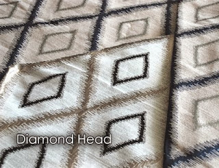 Diamond Head, jacquard, silk, diamond, fabric