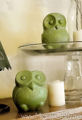 Cute Painted Owls - www.MightyCrafty.me