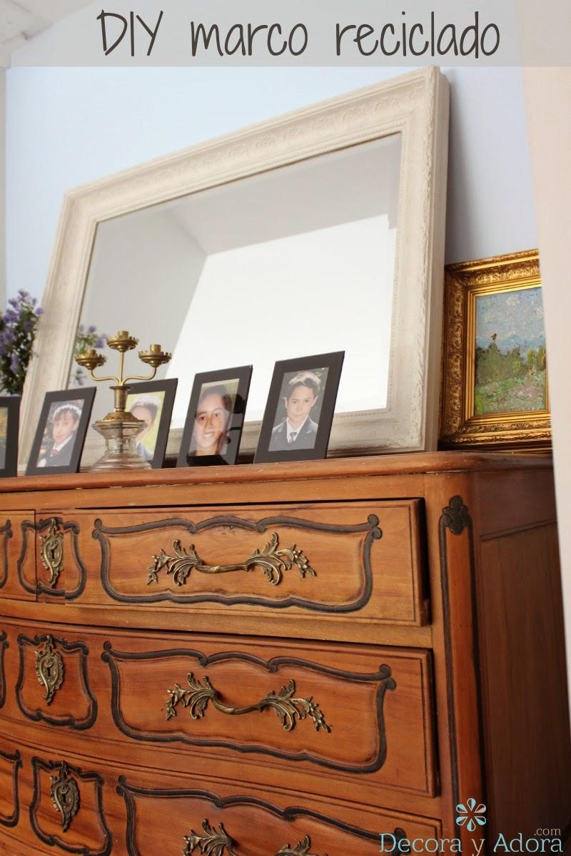 decora y adora: Diy reciclar marco de cuadro